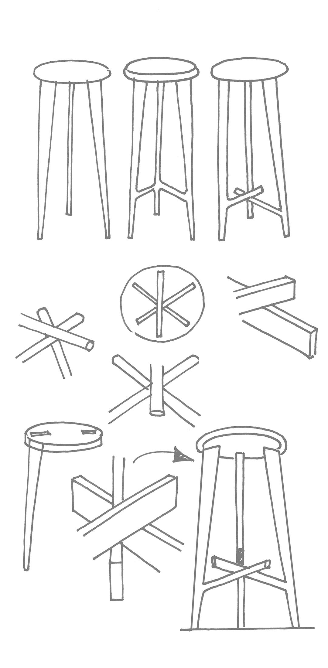 key stool sketches — soca